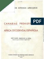 Canarias prehispánica y Africa Occidental española - J.Mª Pinto de la Rosa 1954