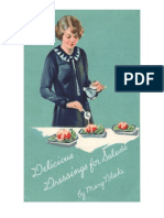 Delicious Dressings for Salads, by Mary Blake.  Undated ca. 1920's.