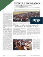 L ´OSSERVATORE ROMANO - 30 Agosto 2013