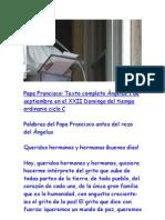 Ángelus Papa Francisco - 01 Septiembre 2013