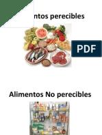 Alimentos Perecibles y No Perecibles