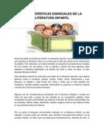 CARACTERÍSTICAS ESENCIALES DE LA LITERATURA INFANTIL