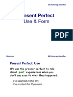 Present Perfect for experiences