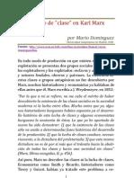 El Concepto de Clase en Karl Marx