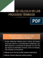 MÉTODOS DE CÁLCULO DE LOS PROCESOS TÉRMICOS