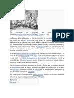 Historia de la educación I