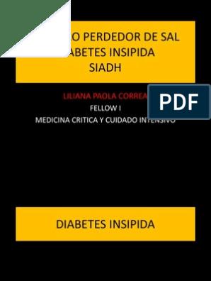siadh vs diabetes insípida vs pérdida de sal cerebral vs diabetes