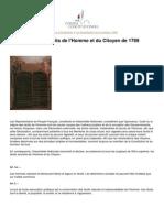 Droits de l'Homme Et Du Citoyen 1789