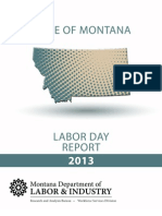 2013 Montana Labor Day report
