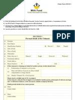 MVA Main Claim Form March 2008