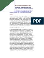 Espermatogénesis en personal profesional expuesto a radiaciones electromagnèticas