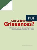 Can Cadets Write Grievances?