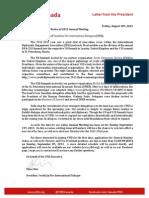 YFID Letter to General Members