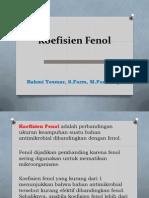 Bahan Kuliah Koefisien Fenol
