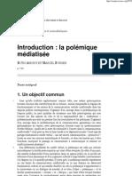 Introduction_ la polémique médiatisée