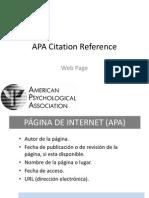 APA Citation Reference