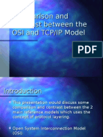 osi and tcp/ip comparison