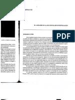El Analisis en La Secuencia de Investigacion, Cea