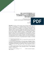 Aurell, Jaume - Del logocentrismo a la textualidad La autobiografía académica como intervención historiográfica