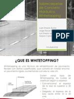 EXPOSICION Sobrecarpetas de Concreto Hidráulico Whitetopping