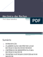 Introdução  Mecânica das Rochas
