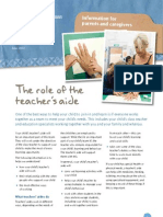 Info Sheet Teachers Aide Role