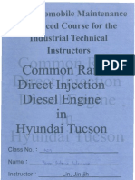 Common Rail Direct Injection (CRDi) Diesel Engine in Hyundai Tucson