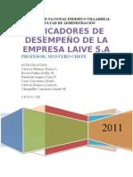 Ratios de La Empresa LAIVE (2008-2009) (1)