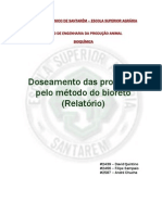 BIOQUÍMICA - Doseamento das proteínas pelo método do bioreto (Relatório)