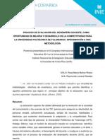 Proceso de Evaluacion Del Desempenio Docente-R Munioz y R Lozano