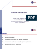 Notifiable Transaction 200910