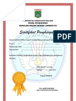 sertifikat penghargaan