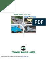 Titagarh Wagon Annual Report 2013