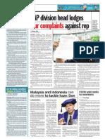 thesun 2009-06-16 page06 dap division head lodges four complaints against rep