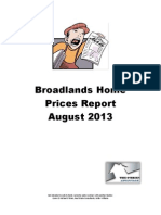Broadlands Home Prices Report - August