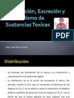 Distribución, Excreción y Metabolismo de Sustancias Toxicas