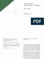 Weber Max - Ensayo Sobre Metodologia Sociologica
