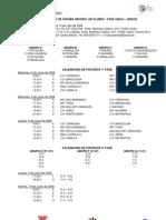 Calendario Cto España Waterpolo Infantil Clubes 09