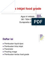 Tinta Inkjet Food Grade
