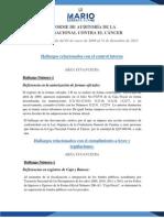 Informe de Auditoria de La Liga Nacional Contra El Cancer