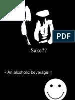 Aya Nomoto's Presentation on Sake