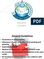 Guidelines for entry and exit from high risk areas - infection control