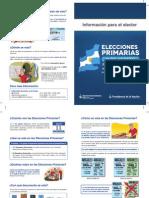 313 Folleto Informacion Para El Elector Elecciones Primarias