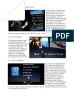 Steve Jobs' Presentation Secrets.  Steve Jobs Secretos de presentación