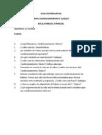 GUIA de PREGUNTAS-Condicionamiento Clasico