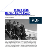 CIA Admits It Was Behind Iran's Coup