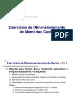 Exercicio_Dimensionamento de Memorias Cache