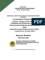 Desentralisasi Fiskal dan Pajak - Retribusi Daerah pada Era Otonomi Daerah - Words 2007