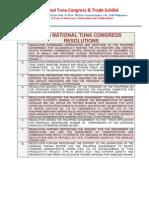 15th Summary List of Resolutions