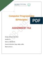 Computer Programming & Principles (C Language)